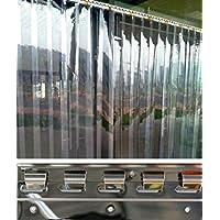 VZ H3,00 x B3,00 m fertig vormontiert PVC Streifenvorhang Lamellen 3x300mm