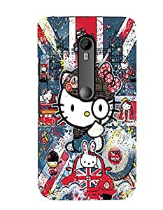 Citydreamz Hello Kitty/Cartoon/Dots/Cute Design Hard Polycarbonate Designer Back Case Cover For Motorola Moto G Dual SIM (Gen 3), Motorola Moto G3 Dual SIM