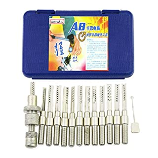 TPM Go 12pcs Bump Key Lock Pick Set for Civil Door AB Kaba Lock,Bump Key Hammer