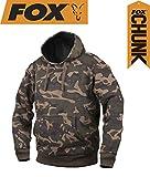 Fox Chunk Camo Lined Hoody Pullover, Angelpullover, Angelbekleidung zum Karpfenangeln, Pulli, Sweatshirt, Kapuzenpullover, Hoodie, Größe:XL