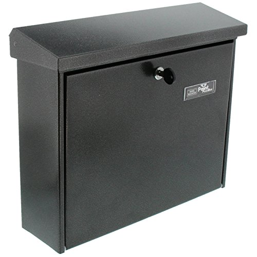BURG-WÄCHTER, Briefkasten mit Öffnungsstopp, A4 Einwurf-Format, Verzinkter Stahl, Journal 5867 E, Eisen