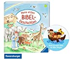 Meine ersten Bibel-Geschichten, Geschichten ab 2 Jahre (Pappbilderbuch) + Kindersticker Arche Noah - Gott beschütze Dich auf allen Wegen