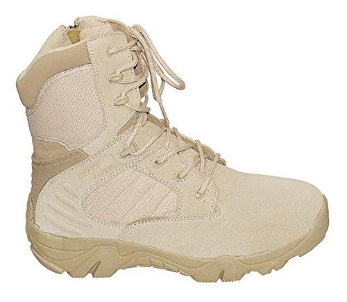 MCA Tactical Boots Delta Force Outdoort Stiefel Einsatzstiefel Schwarz oder Beige Gr. 38-47 (46, Beige) ()