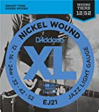 Best D'Addario Acoustic Bass Guitars - D'Addario EJ21 XL Nickel Wound Jazz Light (.012-.052) Review