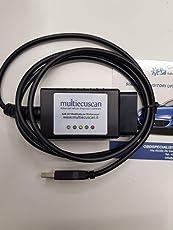 multiecuscan ELM 327 Original CAN OBD2 FIAT Service fiatecuscan