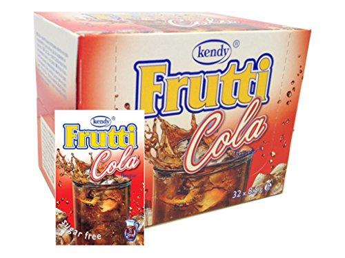 Frutti Instant Getränkepulver ohne Zucker - Geschmackrichtung: Cola 12er Packung