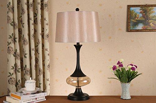 BBSLT Rurale americano cristallo tessuto lampada semplice tavolo in ferro battuto Lampade lampada da comodino camera da letto presenti nella lampada di scrittorio di studio , 40 watt ordinary light bulb
