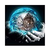 Astory DIY 5d Diamant-Bohrer, Strass-Stickerei, Kreuzstich-Bild für zu Hause, Dekoration diamond painting wolf