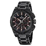 Festina CHRONO-2016-Orologio da uomo al quarzo con Display con cronografo e braccialetto in acciaio INOX, colore nero, F16969/4