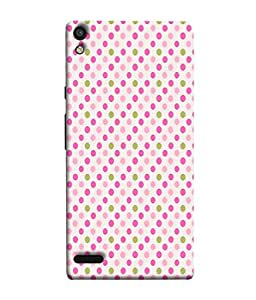 PrintVisa Designer Back Case Cover for Huawei Ascend P6 (Dots Colourful Print Texture Wall paper)