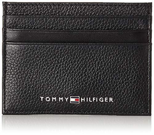 Tommy Hilfiger Herren Th Downtown Cc Holder Kreditkartenhülle, Schwarz (Black), 2x7.2x10.4 cm