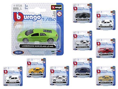 Modellino auto in scala 1:64 di bburago, per modellismo e collezionismo, ideale per vetrina vetrinetta, bacheca, espositore, giocattolo macchina automobile plastica metallo, alsino, seleziona:59000 volkswagen r32