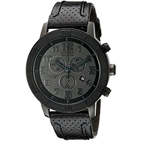 Citizen AT2205-01E Unisex BRT 3.0 Eco-Drive Chronograph Black Dial Watch - Citizen Eco Drive Mens Chronograph
