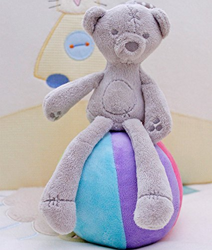 Baby Crib Stroller Toy (Bear) Soft Plush infant Doll Mobile Bed Pram kid Animal Hanging Ring