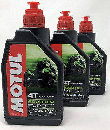 Aceite Moto - Motul Scooter Expert 4T 10W-40, 3 litros (3x1 lt)
