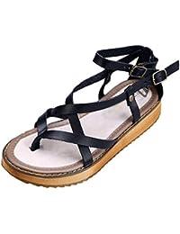 a436f188 Yiiquan Sandalias de Mujer Verano de Moda Mocasines Zapatos con Cuña Cómoda  ...