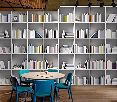 Wxlsl Benutzerdefinierte 3D Tapete Mural Buch Bibliothek Bücherregal  Magazin Regal Moderne Kunst Wandmalerei Wohnzimmer Studie 3D Tapete   300cmx210cm