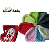 Sweet Baby ** SOFTY ROSA ** Reductor para silla de bebé Maxi Cosi / Römer etc. / Protector de cuerpo para coche (0-6 meses)
