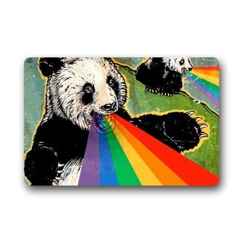 anda Rainbow Art Bear Animal Art Non-Woven Fabric Door Mat Indoor/Outdoor/Bathroom Doormat Rugs for Home/Office/Bedrooms 23.6 X 15.8 Inch ()