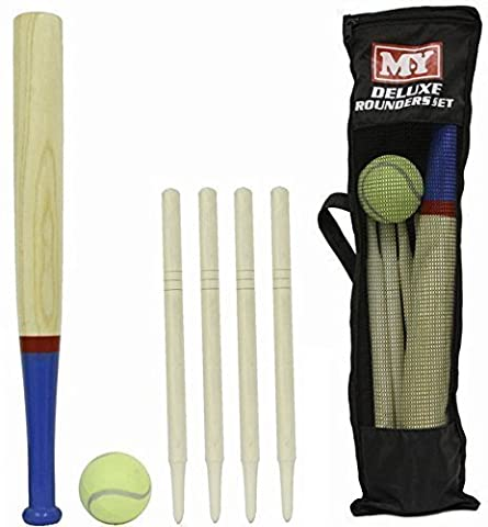 M.Y Deluxe 6 Piece Rounders en bois Set & Carry