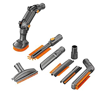 8 Piece Vacuum Cleaner Accessory Set - Crevice Upholstery Brush Tool Cleaning Kit for 32mm or 35mm Vacuum Cleaners
