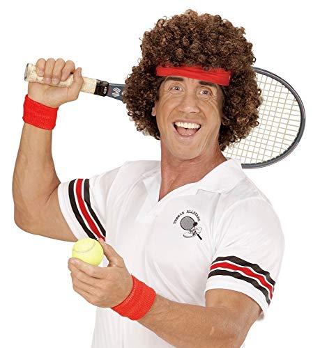 80er Kostüm Tennis Jahre - 80er Jahre Tennisstar Perücke mit Stirnband