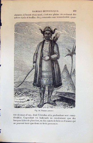 Femme Yakoute Menschliche Rassen Humaines Figuier des (1880 Kostüm)