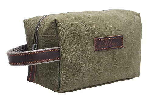 canvas-travel-toiletry-organizer-shaving-dopp-kit-cosmetic-makeup-bag-9-inchw-001-m-army-green