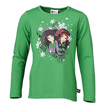 LEGO Wear Sweatshirt  Col ras du cou Manches longues Fille - Vert - Grn (862 GRASS GREEN) - FR : 12 ans (Taille fabricant : 152)