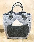 Filz-Tasche mit Seitenfach 2-sort. Shopingtasche Umhängtasche Tragetasche (Nr.2)