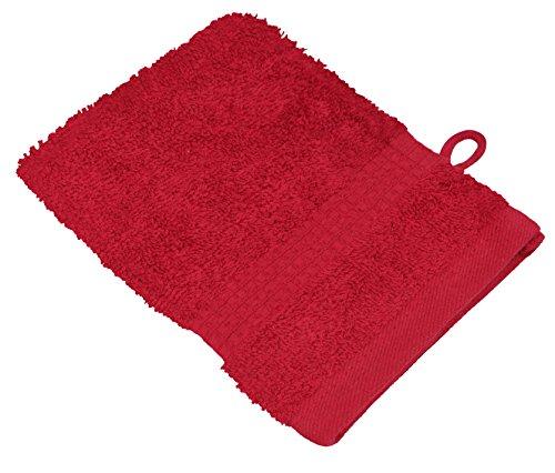 starlabels Serviettes Disponible en 15 couleurs et 5 dimensions doux saugstark 500 g/m², 100% coton, Coton, Rot, 15 cm x 21 cm