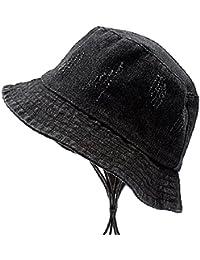 79f43b9e0d5 AJOG Denim Bucket Sun Hat Spring Summer Visor Protection Hats Washed Denim  Holes Harajuku Fisherman Hat
