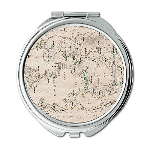 Spiegel, Reise-Spiegel, Karte Wallpaper Karte New York City, Taschenspiegel, Tragbare Spiegel 009 Ram