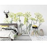 Einfache Und Schöne 3D Tapeten Wohnkultur Wohnzimmer Blume Und Gras 3D Hintergrund Wand Fototapete, 430X300Cm (169.29X118.11 In)
