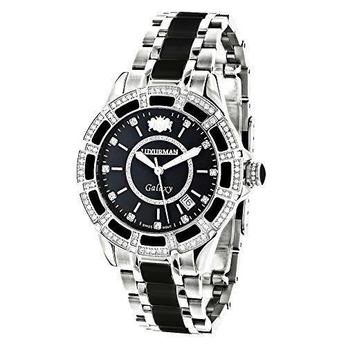 LUXURMAN 2539 - Reloj, correa de acero inoxidable color plateado