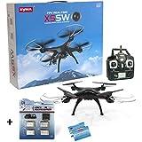 SYMA X5SW Wifi FPV Drohne + DS24 Akku Set 4x 600mah mit 4-fach USB-Ladegerät - Quadrocopter