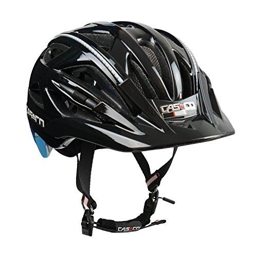 Fahrradhelm Casco Activ 2, schwarz-blau - Biese silber, Gr. L (58-62 cm)