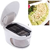 KBF's 3 In 1 Garlic Slicer Dicer Garlic Presser Cutter Garlic Press Presser 3 In 1 Plastic Garlic Crusher Slicer Grater Dicing And Storage Kitchen Tool
