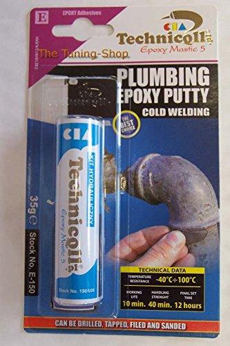 35-g-de-pate-a-modeler-epoxy-bleu-robinetterie-pour-radiateurs-tuyaux-de-refrigeration-siphon-techni