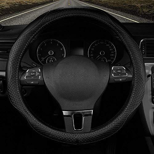 Universal Auto Lenkradabdeckung Auto Griffabdeckung Autozubehör Echtleder schwarz 38cm