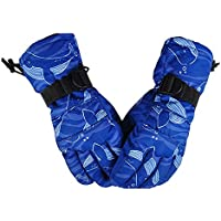 Guantes de esquí para Hombres y Mujeres, ANGTUO Guantes de Snowboard cálidos de Invierno Guantes Antideslizantes a Prueba de Viento para Esquiar, Ciclismo(Blue Whale, XL)
