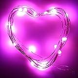 Cramberdy String Lichter LED Lichterkette, Weihnachtsbaum Deko, 2M 20LED Knopfzelle Silber Silber...