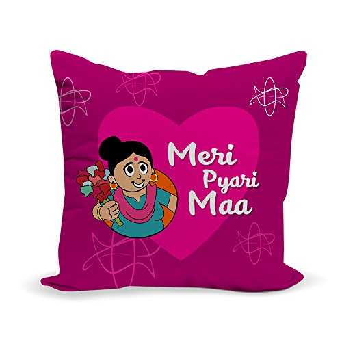LOF Meri Pyari Maa Gifts For Mother's Day 12x12 inches Cushion  available at amazon for Rs.329