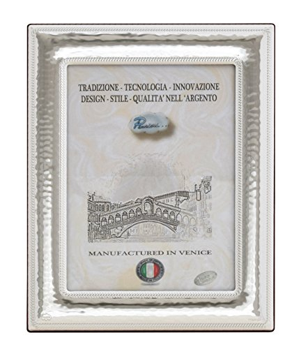VENEZIA Cornice per Foto Portafoto Argento Artigianale Made in Italy Foto 13x18 cm