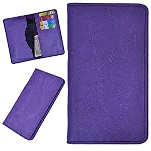 DCR Pu Leather case cover for Spice Stella 439 (purple)