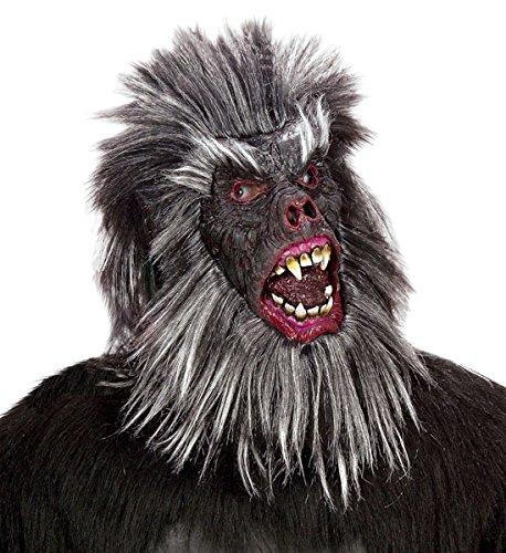 Latex-plüsch (Widmann 8385G - Maske Gorilla mit Haaren aus Plüsch)