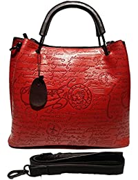 Magnolia Women's Beautiful Handbag In Maroon Colour With Long Belt And Two Partition