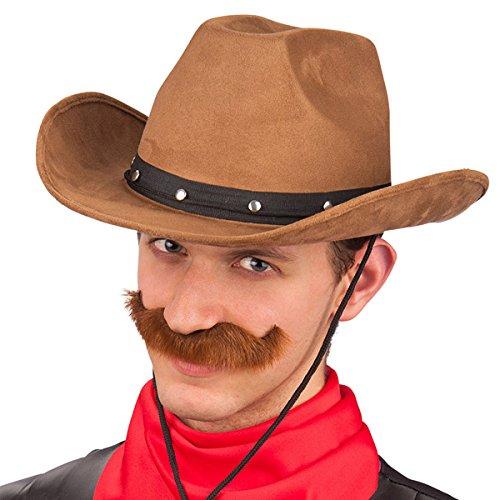Carnival 06118 - Sombrero de vaquero de lujo, Alcantara, Negro