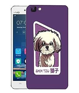 Snoogg Shih Tzu Puppy Designer Protective Back Case Cover For VIVO V1 MAX