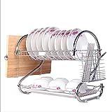 TX ZHAORUI Küche doppelschichtiges Geschirrspüler mit Kunststofftropffach und Geschirrspüler für Küchentheke,#2